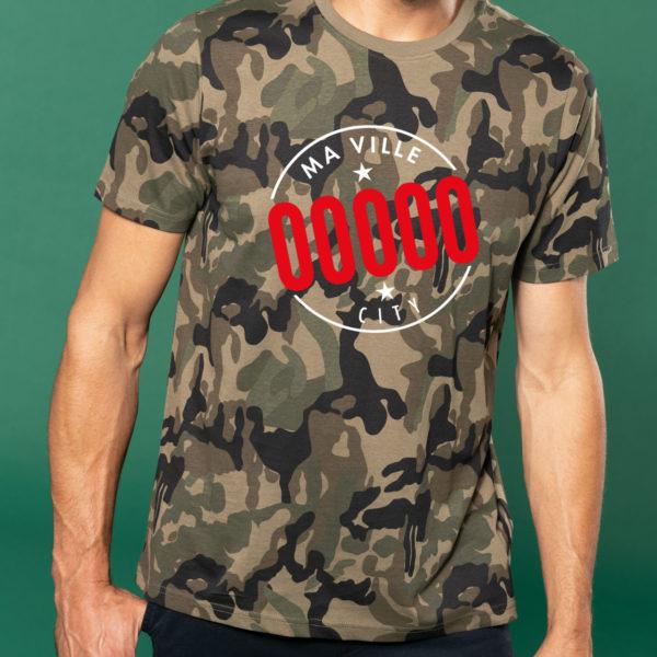 t-shirt camouflage homme personnalisé kapitales